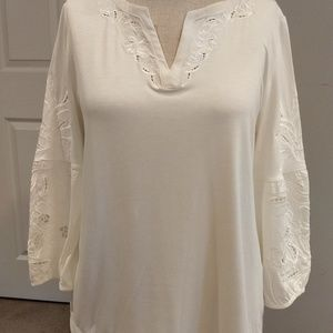 WHBM cut out embellished top